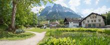 Spa Garden Grainau, With View To Zugspitze And Waxenstein Mountains Bavaria