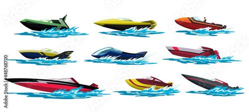 Obraz na plátně Speed motorboats
