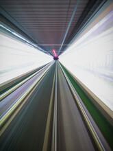 Full Frame Shot Of Illuminated Railway Station