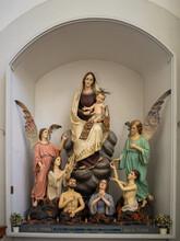 Purgatory Image At Chiesa Del Purgatorio, Ragusa Ibla
