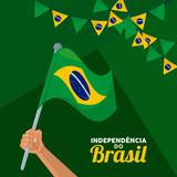 Fototapeta Natura - happy brazil independence celebration