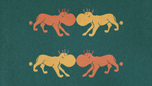 Four Animal Characters