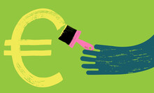 Hand Paints Euro Symbol