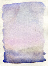 Violet Shades Abstract Watercolor Background
