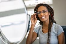 Eyewear: African American Woman Likes New Frames