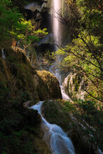 Phu Pha Earawan Waterfall 7th  At Earawan National Park, Kanchanaburi Province, Thailand