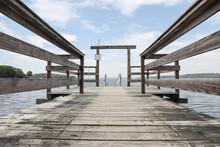 Boat Dock Wooden Pier Entrance