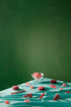 Conceptual Image Of Candies On Table