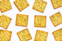 Seaweed Crackers On White Background.