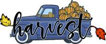 Blue 1950s Pumpkin Pickup Truck | Harvest