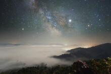 Milky Way Over A Cloud Carpet At Night, Thailand