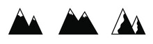 A Set Of 3 Mountains. Images Are Suitable For The Design Of Websites, Presentations And Stories