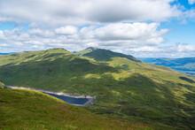 Landscape Photography Of Mountains, Hiking, Trekking, Lake, Clouds, Dam, Ben Lawers, Scotland