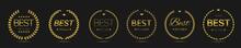 Best Picture Golden Laurel Wreath Label Set