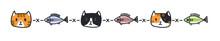 Cat Vector Kitten Calico Icon Logo Toy Symbol Character Cartoon Doodle Illustration Design