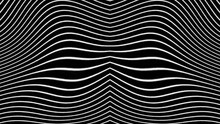 Abstract Animated Black And White Lines Moving Morphing Bending Randomly