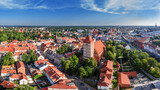 Fototapeta Na sufit -  Olsztyn  z lotu ptaka -panorama Starego Miasta
