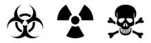 Danger Radiation, Poison, Hazard Sign