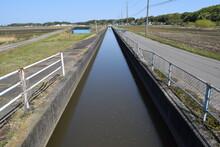 農業用水路兼排水路 茨城県