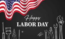 Happy Labor Day. Construction Tools. Vector Illustration