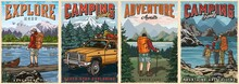 Outdoor Recreation Colorful Vintage Posters