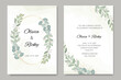 beautiful wedding invitation with floral template