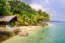 Beachside With Palms On Vanuatu