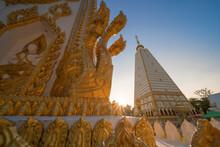 Pagoda At Wat Phrathat Nong Bua Temple In Ubon Ratchathani,Thailand