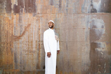 Muslim Man In Traditional Clothes