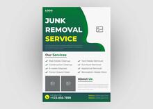 Junk Removal Service Flyer Template. Waste Removal Poster Leaflet Template. Yard Junk Waste Removal Flyer Poster Leaflet Design. Eps File Format
