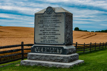 Photo Of The Old Vermont Brigade Monument, Antietam National Battlefield, Maryland USA