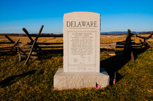 Photo Of The 2nd Delaware Volunteer Infantry Monument, Antietam National Battlefield, Maryland USA
