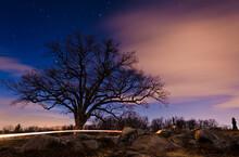 Photo Of Nightfall At Devils Den, Gettysburg National Military Park, Pennsylvania USA