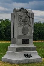 Monument To The 121st Pennsylvania Volunteer Infantry Regiment, Seminary Ridge, Gettysburg National Military Park, Pennsylvania USA