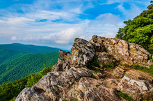 Rocky Summit In The Appalachians, Shenandoah National Park, Virginia, USA
