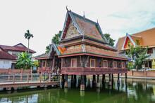 Thai Chedi Phra That Anon At Wat Mahathat Temple, Yasothon,  Thailand