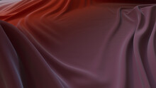 Purple And Red Textile Wallpaper With Wrinkles. Multicolored Wavy Surface Texture.