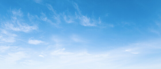 blue sky with soft white cloud
