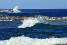 Aqua White Water On Kapoho Coast On Big Island