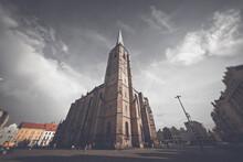 Saint Bartholomew Cathedral At Republic Square In Plzen (Pilsen). Czech Republic