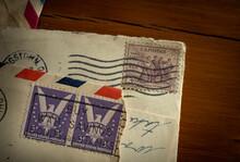 Vintage Stamps On Letters