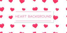 Heart Background Romantic Illustration Design. Banner Romantic Red Wallpaper Vector Red Card.