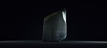 Recreation Of The Rosetta Stone On Black Background.