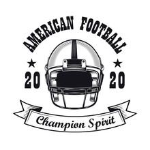 Rugby Champion Spirit Label Design
