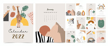 2022 Table Calendar Week Start On Sunday With Safari That Use For Vertical Digital And Printable A4 A5 Size