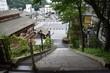 日本 群馬 草津町湯畑 台風接近中の風景