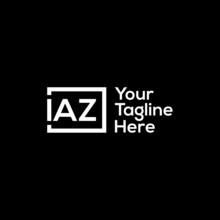 IAZ Letter Logo Design On Black Background.IAZ Creative Initials Letter Logo Concept.IAZ Letter Design. IAZ Letter Design On Black Background.I,A,Z Logo Vector.