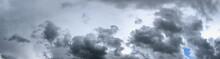 Heavy Cloudscape In A Gloomy Grey Sky