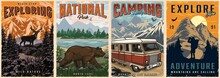 Outdoor Recreation Colorful Posters