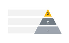 Blank 3 Tier Pyramid Chart. Clipart Image